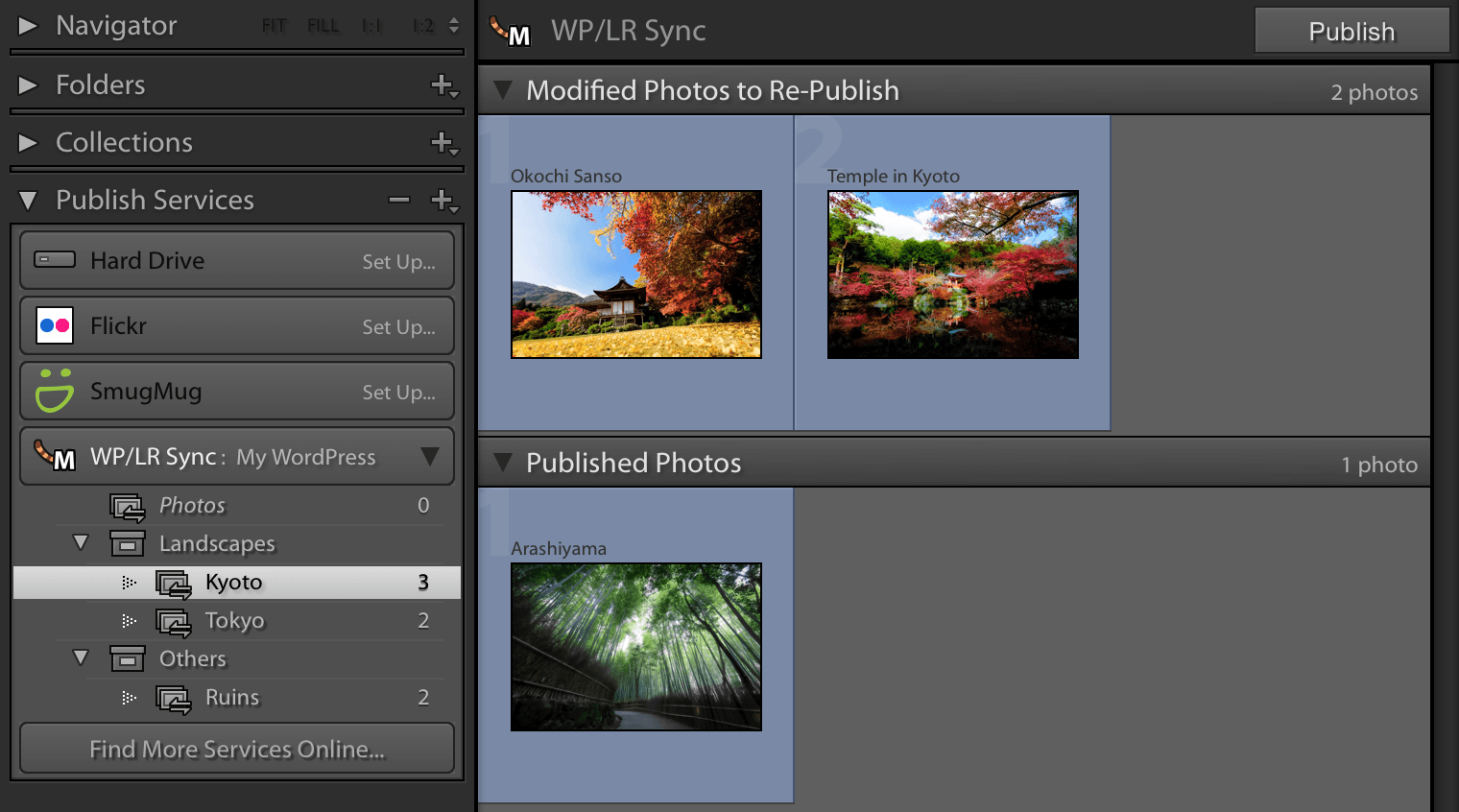 WordPress Lightroom Sync