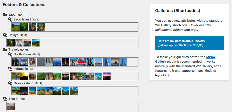 Sync with Galleries